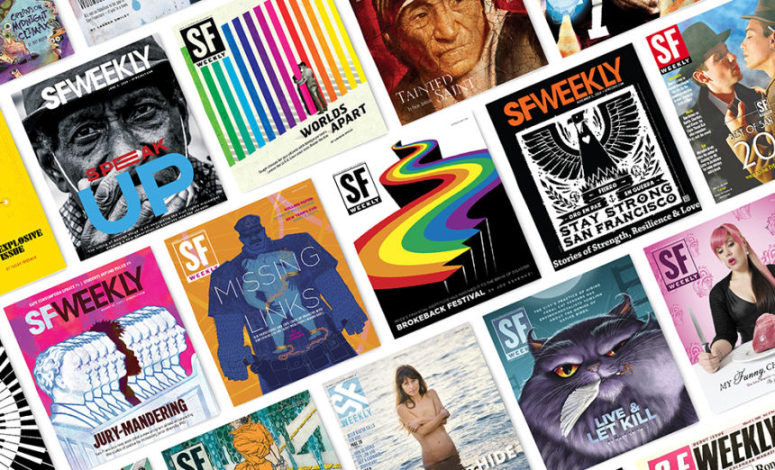 A collection of SF Weekly covers from years past.